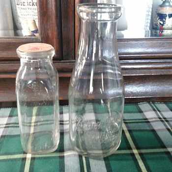 Milk and cream bottles