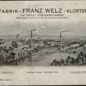 A Large Glass Production Facility In Klostergrab - Franz Welz Made Glass!!  :-)  - Art Glass