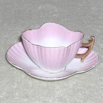 Pink Demitasse cup &amp; saucer