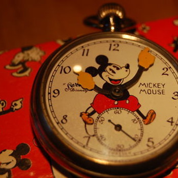 1934 &quot;Services&quot; Mickey Mouse English Pocketwatch Prototype? - Pocket Watches