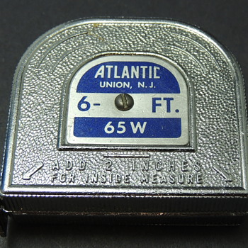Tape Measure Made by ATLANTIC Union, New Jersey