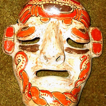 Mexican hanging mask - Art Pottery