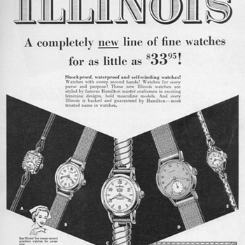 1953 - Hamilton/Illinois Watch Advertisement