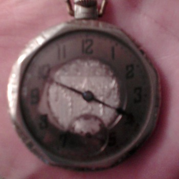 Old silver swiss pocket watch
