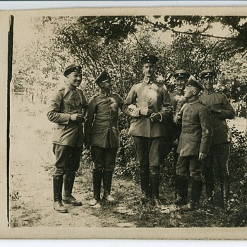 European soldiers photograph