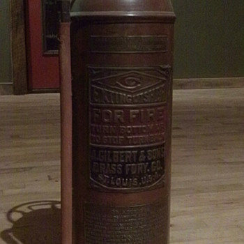 Old Copper Fire Extinguisher - Firefighting