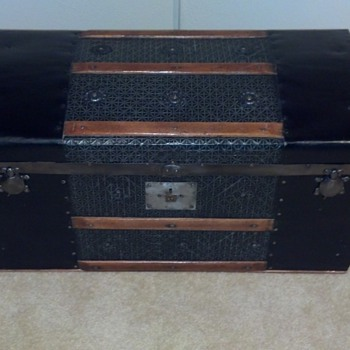 Refinished Antique Child's Trunk @ Turtle Hasps - Furniture