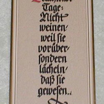 German Calligraphy - Quote by Tagore