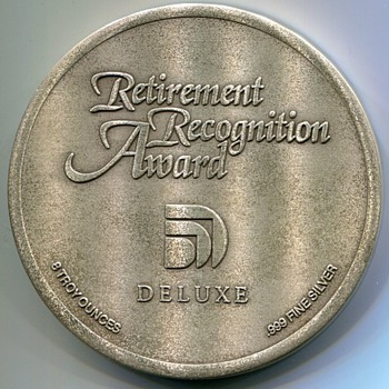 Unusual Retirement Medal - Advertising