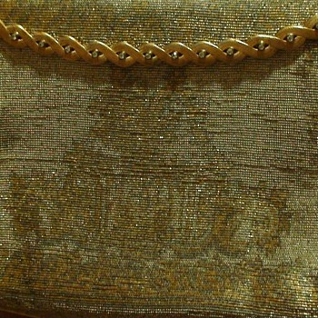 Gold Beaded Hand-Made in France Purse - Bags