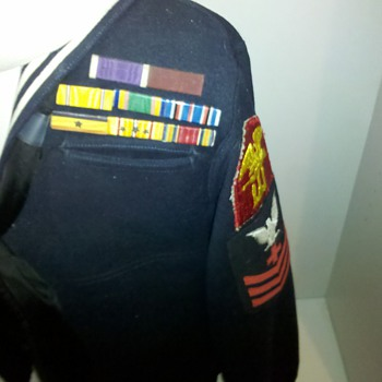WWII US NAVY Corpsman Combat Medic dress blues tunic....