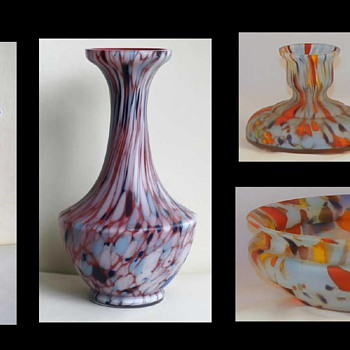 Some Satin Finish Examples - Some Different Décors and Shapes Than We Normally See. - Art Glass
