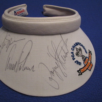 Autographed 1987 PGA Championship Sun Visor
