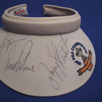 Autographed 1987 PGA Championship Sun Visor