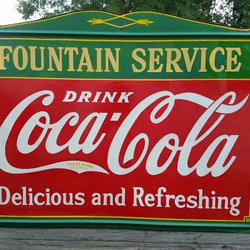 1930's Fountain Service Sign  - Coca-Cola
