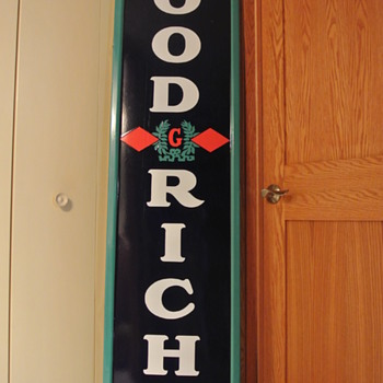 Original BF Goodrich Tires Single-Sided Porcelain Sign