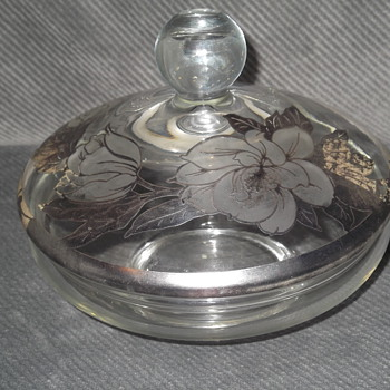 Silver painted candy dish - Glassware
