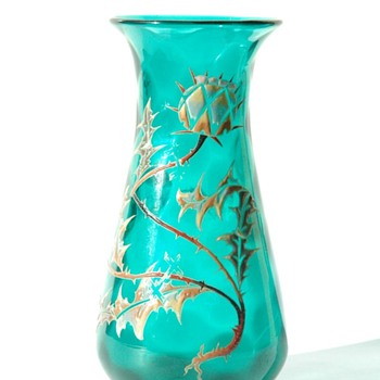 stunning art nouveau vase by vallerysthal circa 1895-1905