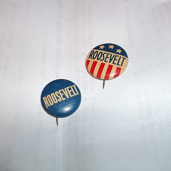 ROOSEVELT BUTTONS/ WILKIE  EVERSHARP PENCIL - Medals Pins and Badges