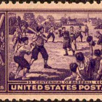 1939 - Baseball Centennial Postage Stamp (US) - Stamps