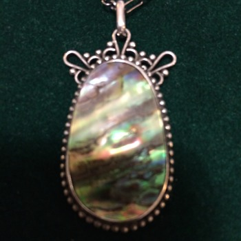 Arts & Crafts abalone pendant - Arts and Crafts