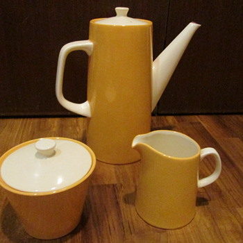 Vintage Kasuga Coffee Pot, Creamer and Sugar Pot