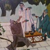 Art Tile Mural Of Three Chinese Men