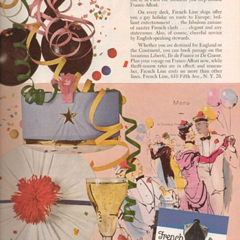 1951 - French Line Advertisement - Advertising