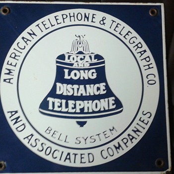 American Telephone & Telegraph Co. Porcelain Sign - Advertising