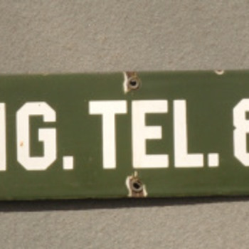 New England Telephone Truck sign