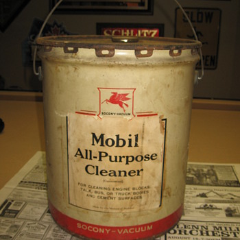 Mobil All Purpose Cleaner Can - Petroliana