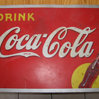 1939 Coca-Cola Tin Sign - Coca-Cola