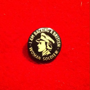 British Woman Soldier pins