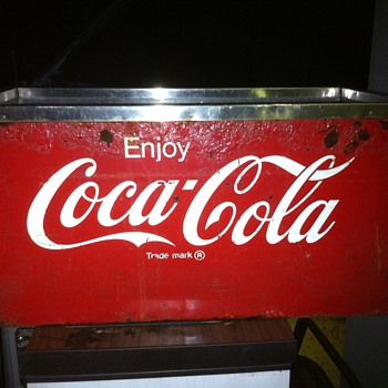Coke Ice Chest Dispenser