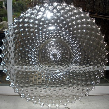 NOT Candlewick LARGE Glass Boopie-Type Charger/Platter. - Glassware