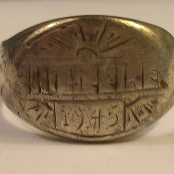 Silver Army Service Ring from the Philippines 1945