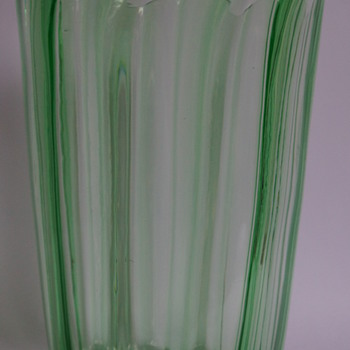 Webb Uranium Green Vase - Art Glass