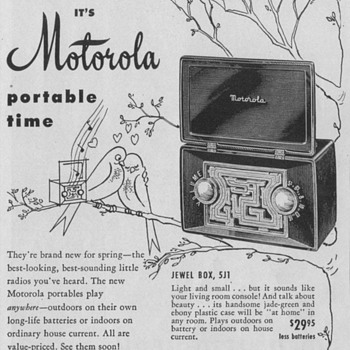 1950 - Motorola Model 5J1 Radio Advertisement - Advertising