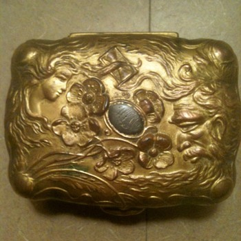 Beautiful Art Nouveau Metal Jewelry Box - Circa 1900