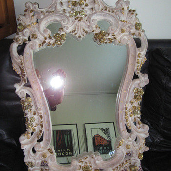 Hand Carved Venetian Style Decorative Mirror - Furniture