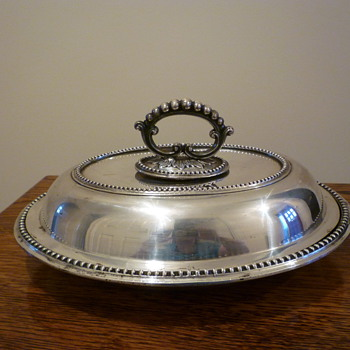 Edwardian? silver/silver plate serving dish - Sterling Silver