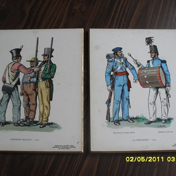 ROTC Photo's on Wooden Backing.