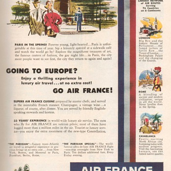1952 - Air France Advertisement