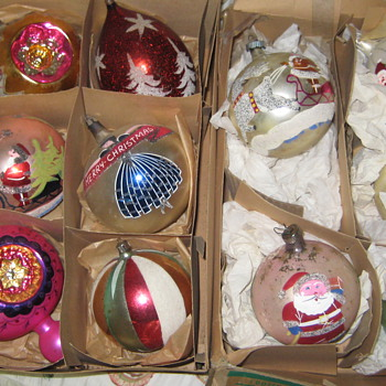 Vintage Christmas Ornments