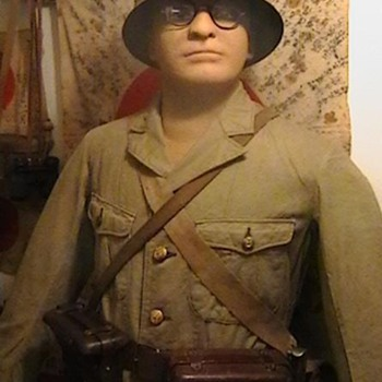Original WW II Imperial Japanese Marine Uniform, Helmet, and Equipment