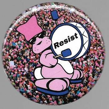 Woman's March Jan 21 2017 Resist - Medals Pins and Badges