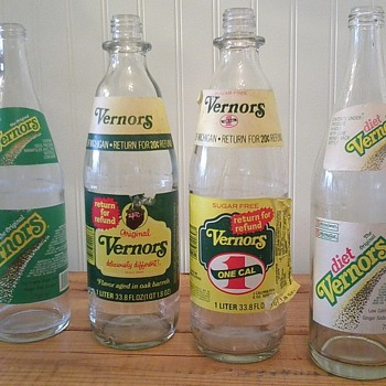Vernors bottles - Paper Labels