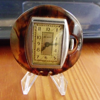 "1932 New Haven ""Bakelite"" Lapel Watch - Pocket Watches"