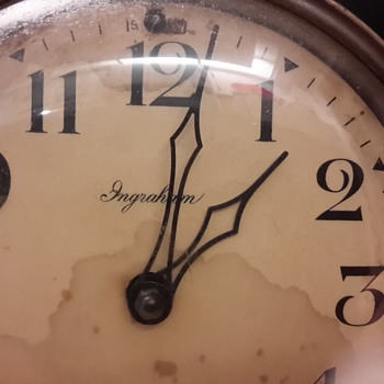 old ingraham wind up clock