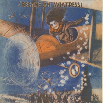 "Sheet Music , 1919 ""Since Katie The Waitress Became An Aviatrix"" She Goes Bathing In The Milky Way."